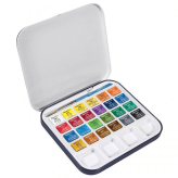 Daler Rowney Aquafine Travel Set (24 Colores + Pincel)