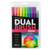 Tombow Dual Brush Pens Paleta Brillante - Set de 10 marcadores