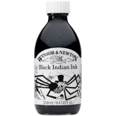 Winsor & Newton Black Indian Ink (Tinta India) - 250ml