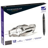 Prismacolor Premier Art Markers (French Grey) - Set 12 Marcadores