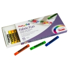 Pentel Fabric Fun Barras de Pastel Textil Set de 15 Colores