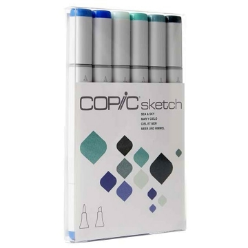 Copic Sketch Set de 6 - Sea & Sky