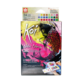 Sakura Koi Acuarela C.A.C + WaterBrush - Set de 24 colores