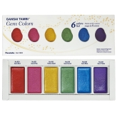 Kuretake Gansai Tambi Gem Colors - Set de 6 Colores